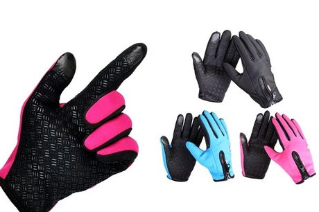 Med disse vind- og vandafvisende handsker kan du holde fingrene både varme og tørre i det danske vejr. Vælg mellem flere størrelser og farver - inkl. fragt