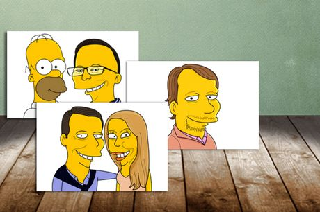 From £14.99 for a hand-drawn personalised digital cartoon portrait from CartoonKart, or from £36.90 for a printed version - see yourself and loved ones transformed in to The Simpsons characters, and save up to 35%
