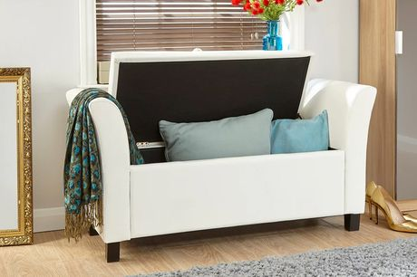 £139 for a faux leather ottoman storage bench from FTA Furnishing!