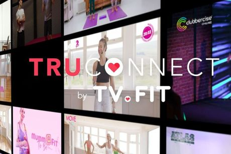 £4 for a two-month unlimited fitness class subscription with TRUCONNECT by TV.FIT featuring over 200 workouts including celebrity workouts with Gemma Atkinson and Helen Flanagan