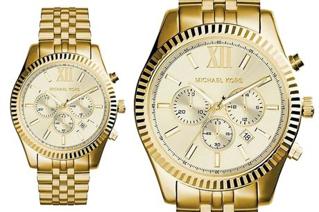 £99 instead of £242.01 for a men's Michael Kors gold Lexington chronograph watch from CJ Watches - save 59%
