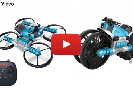 2 i 1 transformerende motorcykel & drone med kamera