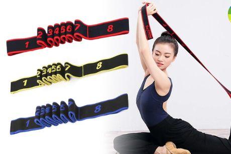 Yoga elastikbånd - vælg mellem Blå, Gul & Rød!