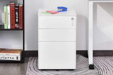 £169 for a White Contemporary Filing Cabinet  from Mhstar Uk Ltd