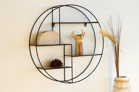£21.99 for a round wall-mounted metal shelf!