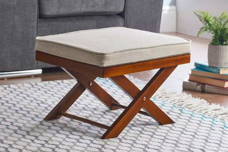 £39 for a Cross Leg Footstool from Gablemere