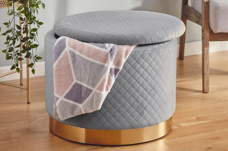£59.99 instead of £89.99 for a large quilted storage footstool from CJ Offers - save 33%