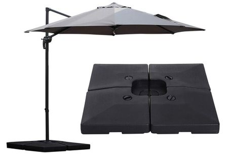 £114 instead of £249 for a 4-piece portable umbrella base from Mhstar Uk Ltd - save 54%
