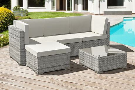 £369 for a four-seater Trinidad polyrattan garden furniture set from Oseasons®!