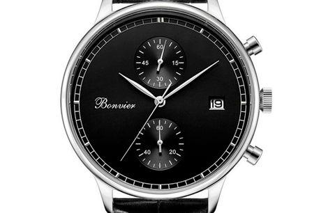 Bonvier Lugano Black/S Bonvier blev grundlagt af to italienske urentusiaster og kommer fra Rom. Bonvier et et nyt urbrand, der har oplevet stor fremgang med deres fokus på minimalisme og høj kvalitet. De to urentusiasters mål var at skabe et brand, hvor