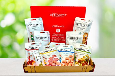 £15 for a vegan selection box from Mr Filbert's including 18 snack packs - enjoy their moreish olive snack, cashews, almonds, peanuts and more!