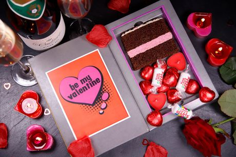 £7.99 instead of £10.50 for a personalised Valentine's Day cake card from Sponge Cakes including two slices of cake and delivery - send a sweet treat and sweeter message to a loved one and save 24%