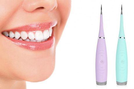 Elektrisk tandrenser .  Mere effektiv end tandtråd Har du problemer med plak eller tandsten? Så kan du komme proble-merne til livs med en elektrisk tandrenser Tandrenseren løsner plak, tandsten, bakterier og snavs fra dine tænder ved hjælp af ultrasoniske