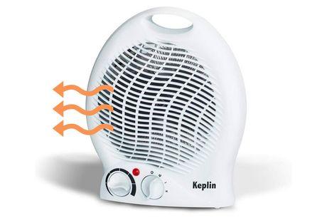£12.99 instead of £99.99 for a Keplin portable electric fan heater 1000-2000w from Vivo Mounts – save 87%