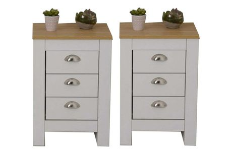 £79 instead of £159.99 for a pair of bedside tables in grey or white from Dreams Outdoors - save 51%