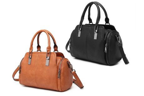 £14.99 for a Miss Lulu leather everyday bowler bag from Miss Lulu!