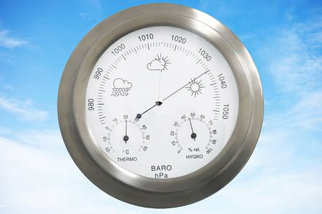 £18.99 instead of £66.63 for an indoor and outdoor stainless steel barometer from Who Needs Shops - save 70%