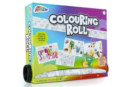 £7.99 instead of £19.99 for a colouring roll art set from Vivo Mounts - save 60%