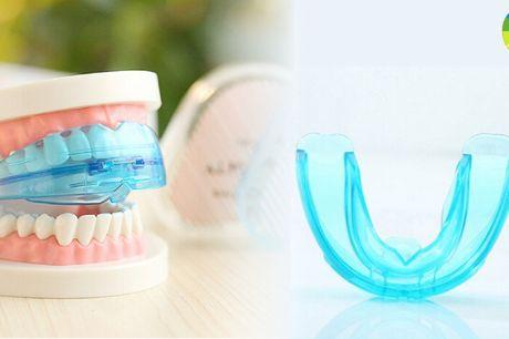 Blød bideskinne der modvirker tandskæren og smerter