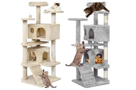From £34 instead of £99.99 for a multilevel cat climbing tree from Rattrix - save up to 66%