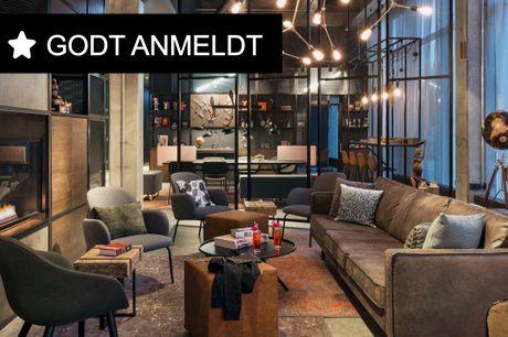 Stilfuldt hotel med højt komfort- og serviceniveau nær centrum. 3 dage inkl. - 2 overnatninger - 2 x morgenmad - 2 x 50 kr. værdikupon til snacks/drinks - 1 x Moxy DIY Cocktail Kit - 4 x Kaffe to go