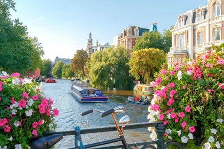 Bo direkte i Amsterdams smukke kanaldistrikt. 3 dage inkl. - 2 overnatninger - 2 x morgenbuffet - 1 x velkomstdrink - 1 x 1 times kanalrundfart - Gratis internet
