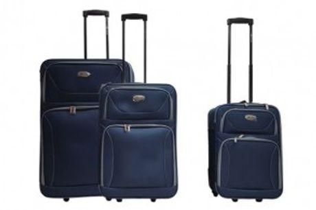 Trolley Sæt (3 stk.).  Flot Leonardo trolley sæt med 3 kufferter i hver sin størrelse.