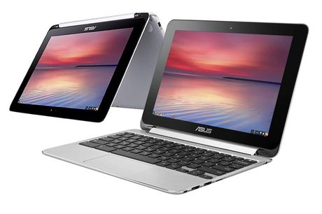 """£129 instead of £249.99 for a refurbished 10.1"""" 2-in-1 ASUS C100PA touchscreen Chromebook or £139 for a refurbished Chromebook and a soft touch laptop case from Renew Electronics! - save up to 48%%"""