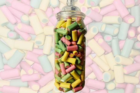 £9 instead of £15 for a 970ml jar of Haribo Rhubarb & Custards Sweets from Treats n Sweets UK - gift to Haribo lovers and save 40%