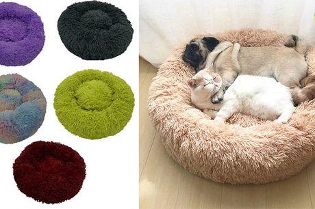 Luksuriøs kæledyrsseng med ultra-blød plys - fås i 7 størrelser