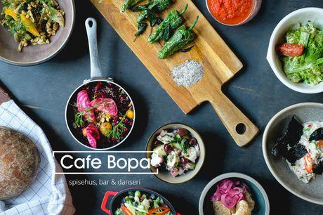 Antipasti fra Bopa til 2  pers.. Den kendte Østerbro-darling disker op med en fantastisk middag som take-away.