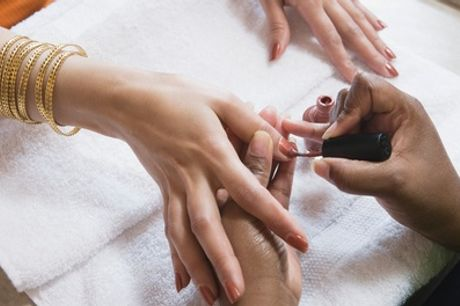 Deluxe Manicure, Pedicure or Both at Blow + Blush Hair & Beauty Salon (Up to 49% Off)