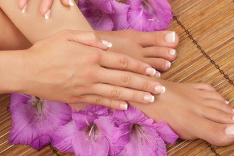 Manicure e pedicure con smalto classico o semipermanente al salone Swan Beauty (sconto fino a 35%)