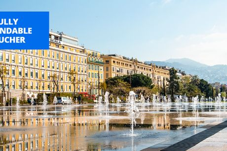 £69 -- Central Nice hotel with rooftop bar, up to 64% off