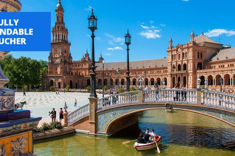 £239 -- Seville old town: 2-night stay w/rooftop pool