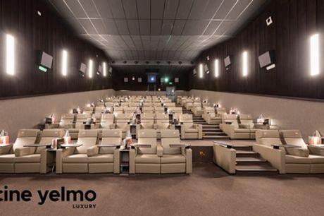 2 entradas de cine y cena para dos con menú Luxury en Yelmo Luxury