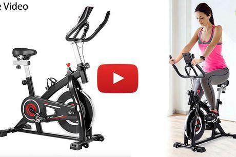Indendørs hometrainer / spinning cykel med LCD-skærm og justerbar modstand