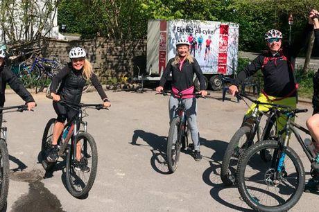 2 timers mountainbike-udlejning Er du og din familie eller dine venner på udkig efter en sjov aktivitet, hvor alle kan være med? Så er du landet det helt rette sted. Med 2 timers hard-tail mountainbikeudlejning i Hareskoven er der nemlig garanti for under