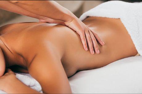 Skøn massage til en super pris.. - Velkommen til et lille stykke af himlen hos Carmen. Du får 30 eller 45 minutters dejlig massage, vælg mellem flere typer. Værdi op til kr. 600,-