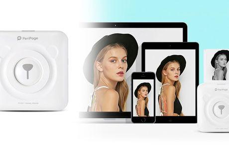 Mini-printer til din mobil og tablet. Print nemt og hurtigt billeder, klistermærker og mere - Gratis fragt!