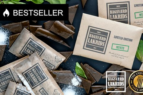 6 plader fra Bagsværd Lakrids. Danmark har fået en ny lakridskonge! Vinder af The Liquorice Taste Award 2020