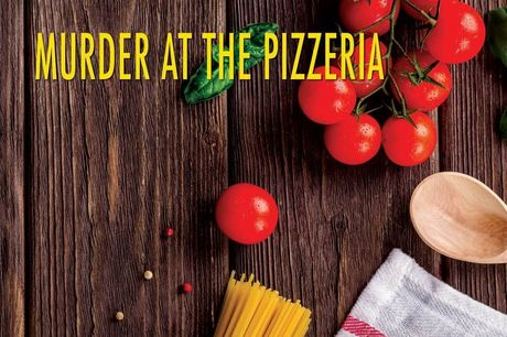 £5.99 instead of £11.99 for a virtual murder mystery 'murder at the pizzeria' downloadable game for up to fourteen people from The Murder Mystery Store - save 50%