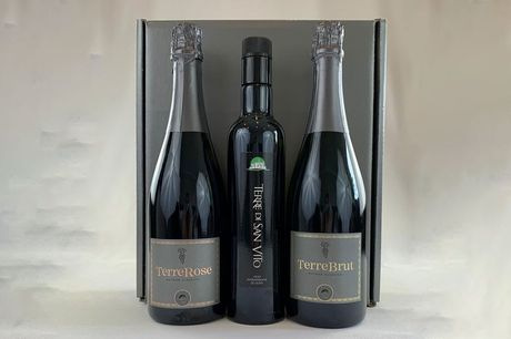 £4 for 35% off a choice of wine gift sets from Terre Di San Vito