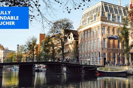 £125 -- Amsterdam: Radisson Blu hotel stay, save 63%