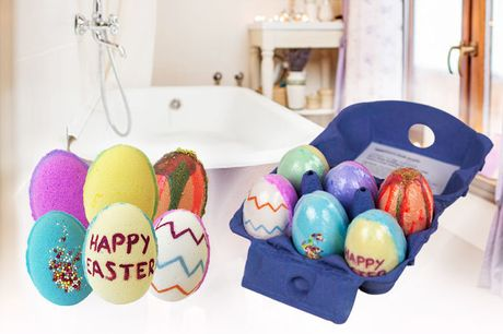 £7.99 instead of £29.99 for a six pack of Easter egg bath bombs from Bathtime Boutique Ltd - save 73%