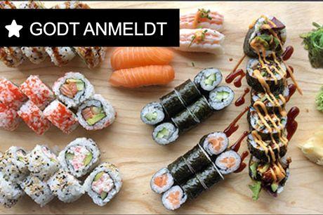 Så nemt kan det gøres - Prøv denne deal.. - Klar hyggemiddagen med lækker takeaway. Menu med 34 stk. sushi eller 49 stk. sushi og 1 tangsalat. Værdi op til kr. 460,-