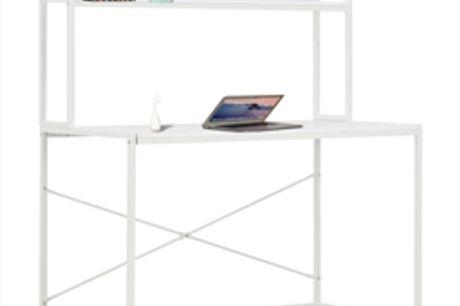 Secretária de computador 120x60x138 cm branco por 159.72€ PORTES INCLUÍDOS