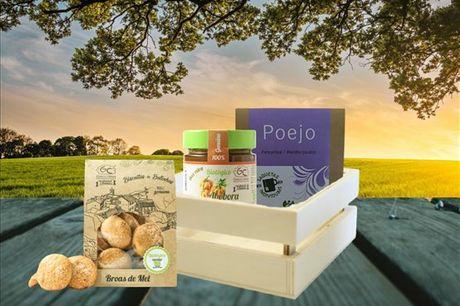 Este cabaz da Geocakes reúne 3 produtos biológicos e bem tradicionais. Receba-o em sua casa por apenas 18,90€