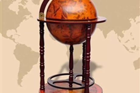 Suporte para garrafas de vinho forma de globo madeira eucalipto por 291.06€ PORTES INCLUÍDOS