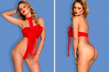 £9.99 instead of £49.99 for a red unwrap me bow lingerie set from Fifty Shades of Lust - save 80%